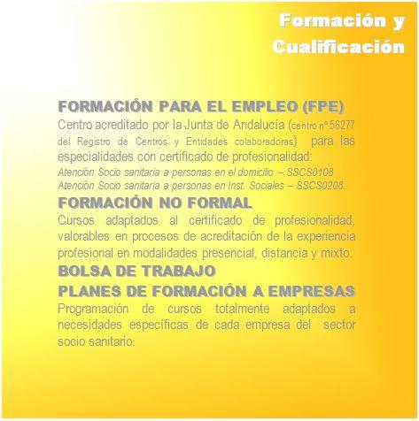 Formación y Cualificación
